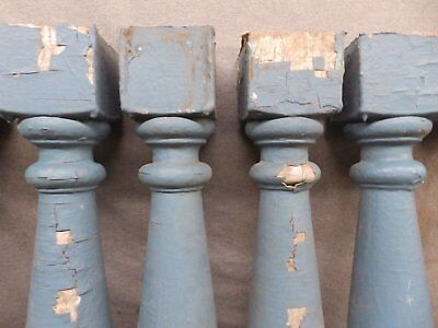1 Antique Turned Wood Spindle Porch Baluster Thick Old Vtg Architectural 527-17R 10