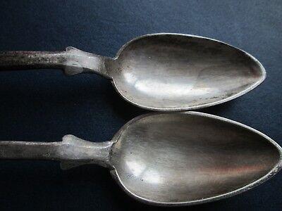 Vintage Ottoman Islamic Handmade 19 CenturyTwo Silver Teaspoons With Tugra 4