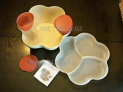 Tupperware Clear Chip N Dip Punch Bowl Set Open House Style Black Brand New