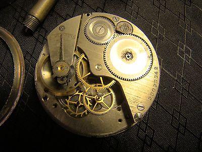 Vintage Elgin Car Clock Pocket Watch Long Stem Case Face Glass Parts or Repair 12