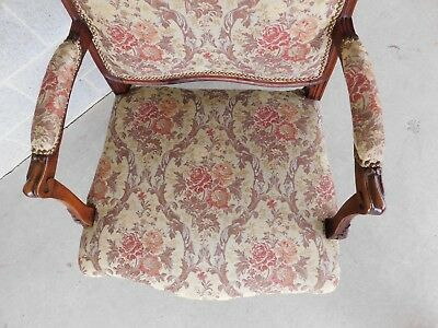 Quality Vintage French Louis XV Style Fireside Accent Arm Chairs  - a Pair 7