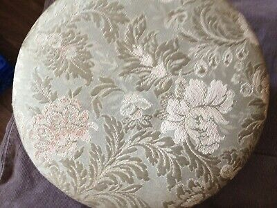 antique low upholstered footstool 2