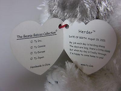 7f6a17171b5 TY BEANIE BABY Herder The Sheep Dog RETIRED -  7.00