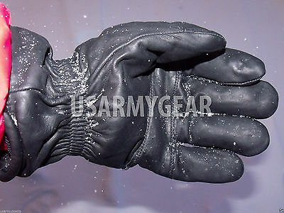 Army Leather Cold Wet Weather ICW Quality Size 3 Gloves XS,S,M Medium Womens Kid 4
