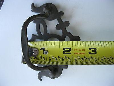 2 Antique Brass Drawer Pulls 5