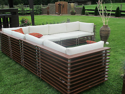 exclusive garten lounge xxl tigerwood teak holz terrasse oder wohnung mbm eur. Black Bedroom Furniture Sets. Home Design Ideas