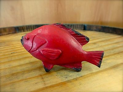 6 Red Fish Drawer Cabinet Pulls Handles Knobs Hooks Tropical Boat