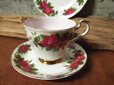 "Paragon China Tea trio  ""Six World Famous Roses"" Oriana 3"