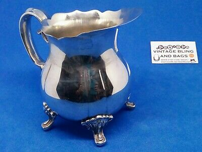 10x12cm Vintage SILVERPLATED creamer cream milk jug PILGRIM Taiwan tea coffee 3