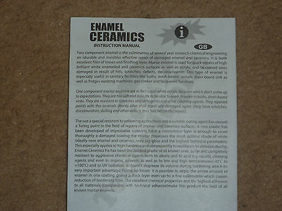 Enamel  Ceramic Repair Kit  NEW ! STRONG Tray Acrylic Batch Shower UK STOCK
