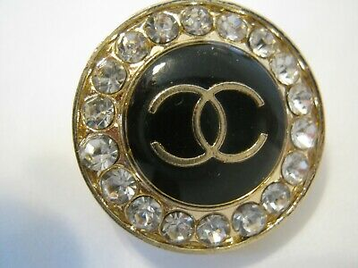 CHANEL  1 AUTHENTIC BLACK gold  cc 18 MM BUTTON THIS IS FOR ONE 2