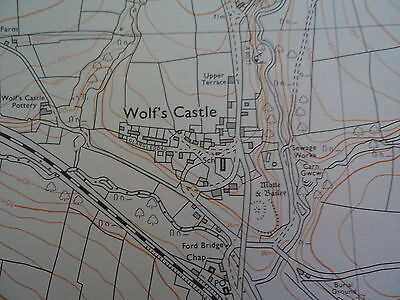 "Ordnance Survey 6"" map SM92NE Dyfed 1980 Wolf's Castle, Little Newcastle 3"