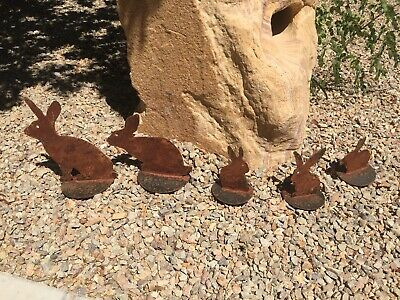 Rustic Duck Family Rusted Metal Yard Art Farmhouse **Free Shipping **
