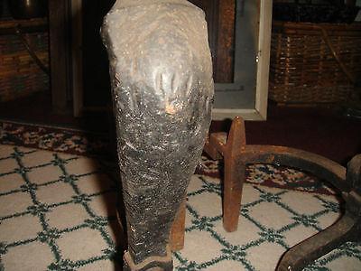 Antique Peerless Andirons-Cast Iron-3521-Resembles Rooster Running-Pair-LQQK 11