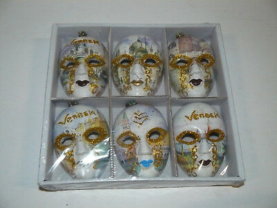 Set piccole maschere decorative veneziane ceramica dipinte - Venezia 3