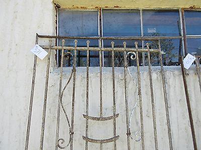 Antique Victorian Iron Gate Window Garden Fence Architectural Salvage Door #371 2