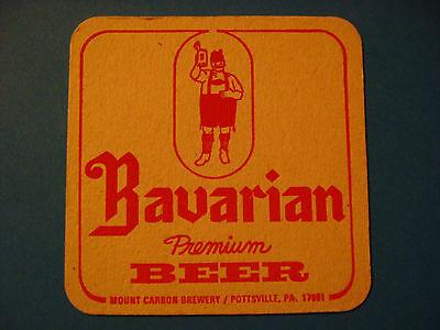 """1970s BAVARIAN PREMIUM BEER UNUSED BEER COASTER 3 3//8/"""" x 3 3//8/"""""""