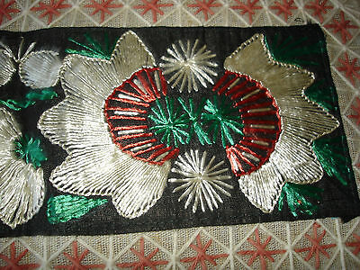 #071  Beautiful Vintage Hand-Embroidered Table Runner 39''/15''(100cm/39cm) 6
