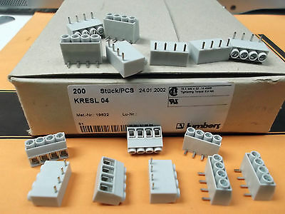 Terminal Block 6 Way 15 Amp 5mm KRESL06 Right Angle PCB Lumberg x 25pcs @ £0.04p 3