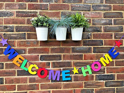 Personalised Welcome Home Banner Bunting Decoration Multi-Colour New Arrival 2
