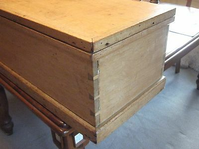 LOVELY VICTORIAN BEECH,OR BLEACHED MAHOGANY BLANKET/TOY BOX/CHEST 130 cm 11