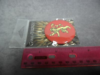 """2.25/"""" Round Metal Button GOT HBO Game of Thrones New Tully Sigil Magnet"""