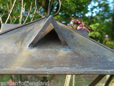 A very pretty unusual Vintage French brass lantern (T157) 7