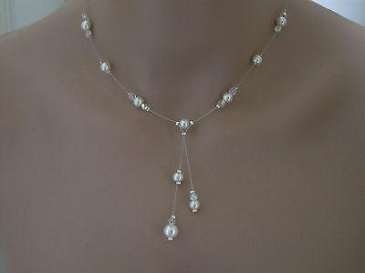 ... Parure Bijoux Ivoire Cristal p robe de Mariée Mariage Cérémonie perle  pas cher 09c6129d1d1e