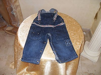 Salopette jeans DOLCE&GABBANA bimbo in cotone.