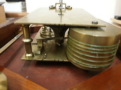 12 inch Unsigned Fusee 8 Day Drop Dial/Station/School  Mahogany Case C1880 7