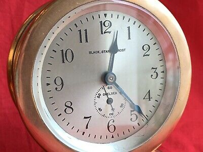 Antique Chelsea Clock Co barometer/timepiece desk clock Princeton President 1927 5