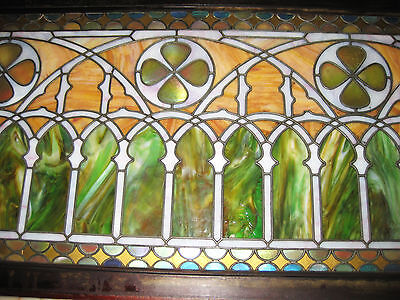 VICTORIAN STAINED GLASS  WINDOW  ca. 1880s 9
