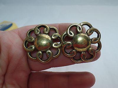 2 Vintage Brass Filigree Drawer Pull 4