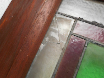 Large Vintage Stained Glass Window Panel (3020)NJ 6