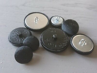 Black Satin Fabric Buttons, 16mm, 20mm, 25mm, 31mm & 37mm Small, Medium & Large 2