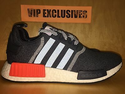 reputable site d0bf2 579e0 ADIDAS NMD R1 Runner Charcoal Grey Orange 3M Mesh Nomad S31510