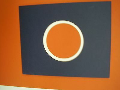 Picture Frame Mat Round Circle Navy Blue Double Mat 8x10 For 4x6