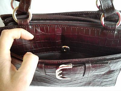 5a338877ff LA BAGAGERIE: SAC à mains marron foncé en cuir - EUR 40,00 | PicClick FR