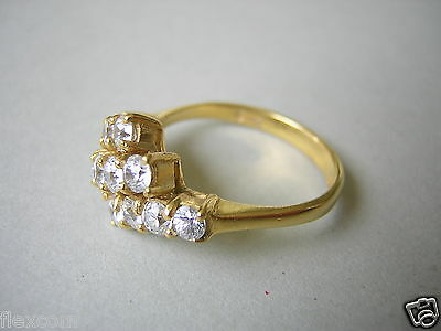 """Americ"" Ring mit 12 x Zirkonia vergoldet Double RG 54/2,6 g"