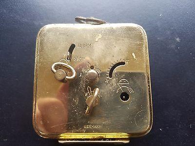 ANTIQUE  Marksman  Brass Carved Alarm Clock  West Germany 5
