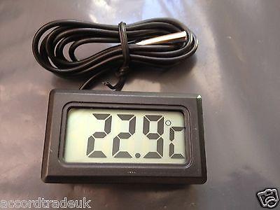 New Black Aquarium Temperature Gauge Lcd Digital Thermometer For Fish Tank Water 2