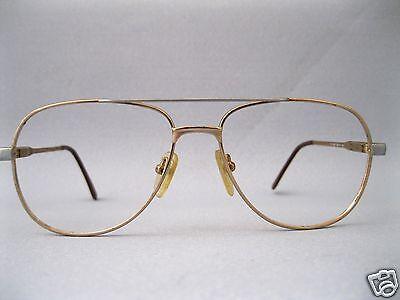 VINTAGE Brillenfassung 56-18 Bicolor Pilotenbrille Gestell ladenneu Optiker 20M 2