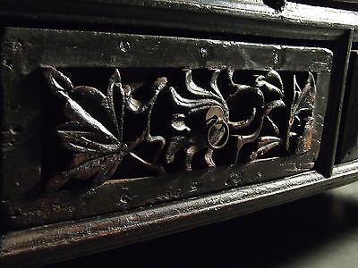 Beautiful Chinese Black Walnut Warrior Cabinet Antique 7