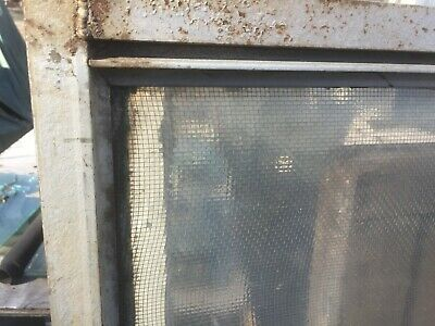 vtg Industrial Window steampunk chickenwire glass metal mullion NYC delivery $75 3