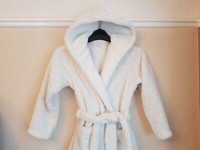 Marks & Spencer Girl's White Super Soft Dressing Gown Robe Age 7-8 Yrs 2