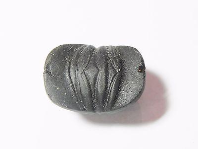 Zurqieh -Q325- Ancient Egypt , Beautiful Stone Button Scarab. 1075 - 600 B.c 4