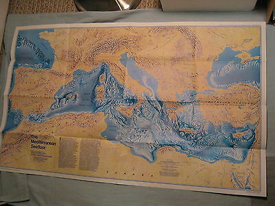 The Historic Mediterranean The Seafloor Map National Geographic December 1982