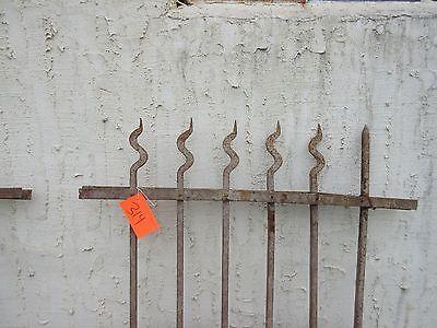 Antique Victorian Iron Gate Window Garden Fence Architectural Salvage Door #314 2
