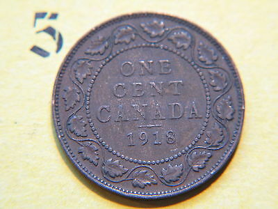 1918  Canada, Canadian Large Cent Coin , Canadian One Cent 2