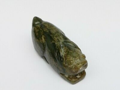 Collection Old China Xinjiang Jade Hand Carving Beast Statue Pendant Decoration 2